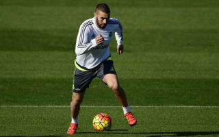 Benzema back in training ahead of Madrid derby