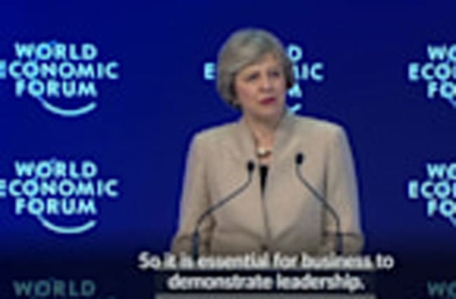 UK PM May urges firms to end short-term thinking