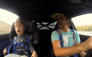 Video: Father and son bond over a spot of drifting