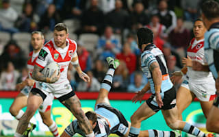 Widdop inspires Dragons to Sharks upset, Rabbitohs end barren run