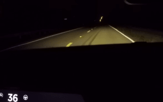 Tesla's incredible performance caught on dash cam
