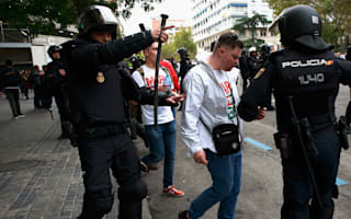 Fans and police clash ahead of Real Madrid's match with Legia