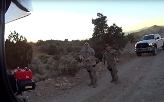 Bikers try to sneak into Area 51 on secret track