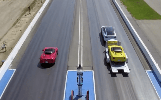 Tesla Model X beats Alfa, while towing one behind it