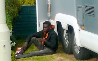 Illegal immigrant clings to camper van from Calais to Kent