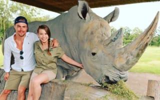 Derek Hough visits Bindi Irwin at Australia Zoo