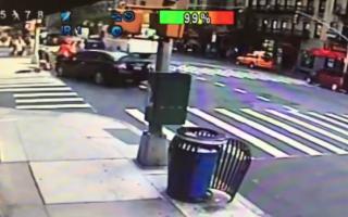 Car crashes into busy New York coffee shop