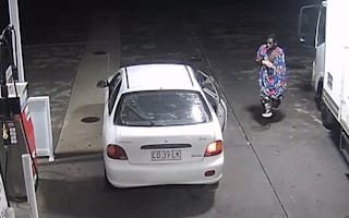 Flowery-outfit wearing thief steals car from petrol station