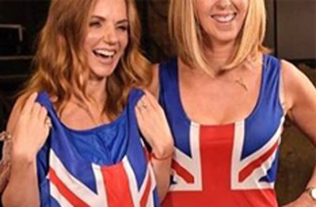 Who has slipped into Geri's famous dress now?
