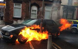Liverpool police chase ends in dramatic car fire