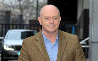 Ross Kemp sheds hard man image in a knees-up with Mrs Brown