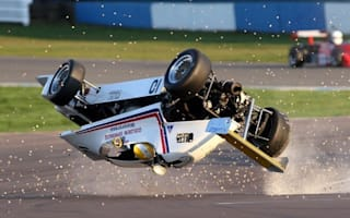 Race driver miraculously survives 80mph barrel roll