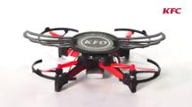 Lo último de KFC es una caja con alitas de pollo que se convierte en dron