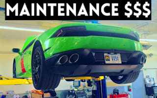 Here's how much it costs to run a Lamborghini Huracan