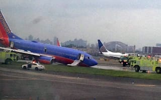 Passengers injured as Southwest plane's landing gear collapses in New York