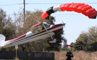 Skydiver hit by 87-year-old's plane in terrifying crash (video)