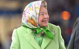 The Queen jumps on a train to London