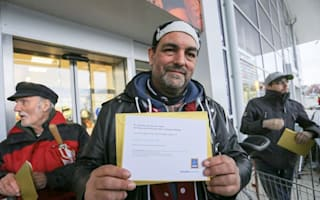 Man queues overnight at new Aldi store on wife's orders