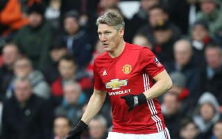 Schweinsteiger makes first United start for 386 days
