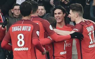 Nantes 0 Paris Saint-Germain 2: Cavani at the double as champions close on Nice
