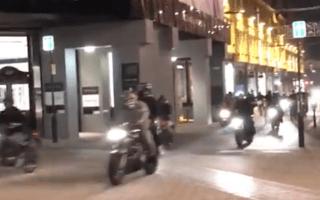 Bikers' Halloween gathering blocks busy road in Leeds