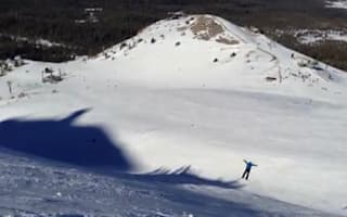 Video: Skier's huge surprise jump becomes a hit on YouTube