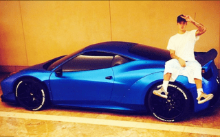 Justin Bieber forgot where he parked his Ferrari and took three weeks to find it