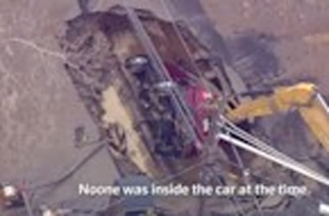 Car swallowed by Hoboken sinkhole