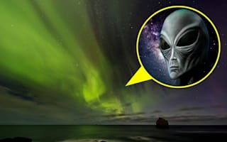 Alien invasion! Is that a creature from outer space in Iceland's Northern Lights?