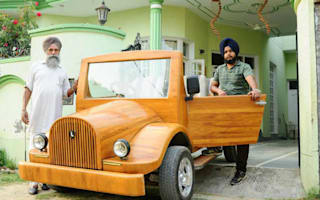 Video: Carpenter and son create wooden car capable of 75mph