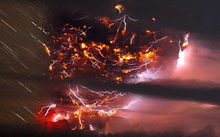 Amazing pics! Volcano erupts in Chile