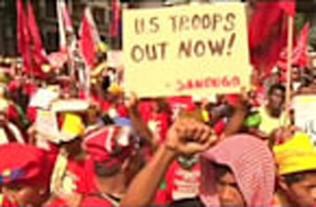 Activists demand withdrawal of U.S. troops from Philippines
