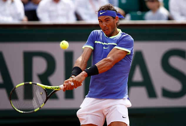 Rafael Nadal in French Open third round