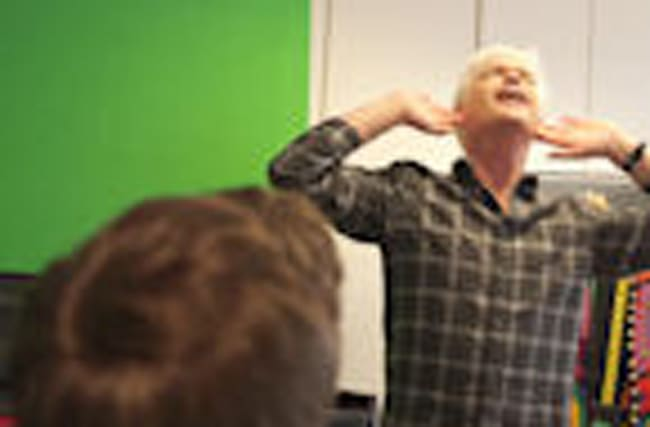 Phillip Schofield rehearses for Joseph And The Amazing Technicolor Dreamcoat.