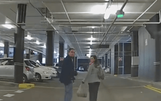Dashcam footage shows the moment car park row turns nasty