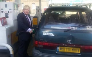 Battered Toyota Previa is Boris's car of choice