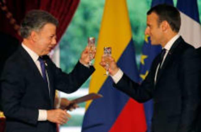 Macron et Santos sont ensemble pour la paix