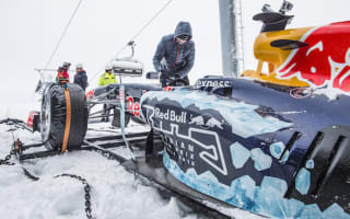 Max Verstappen takes to the slopes in F1 car