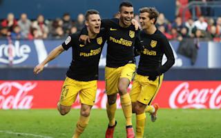 Osasuna 0 Atletico Madrid 3: Godin, Gameiro and Carrasco send Simeone's side fourth