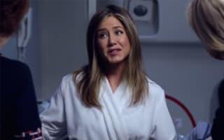 Jennifer Aniston wears her bathrobe on a plane in new Emirates advert