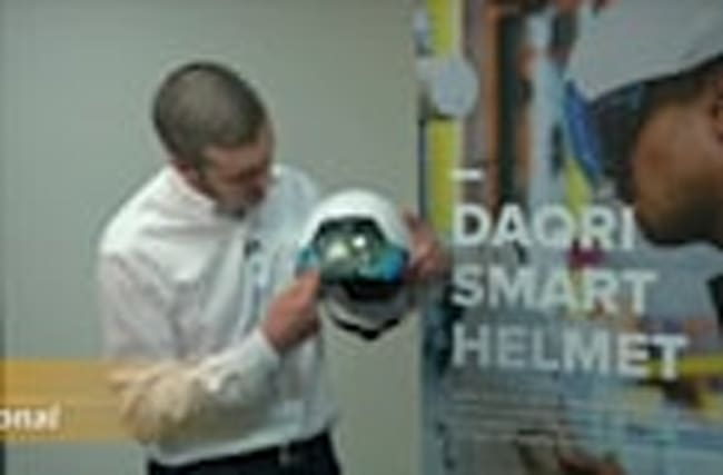 AR smart helmet for worksites of the future