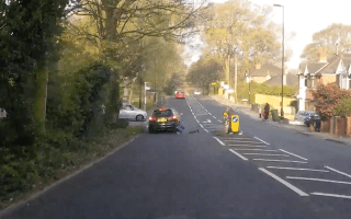 Child knocked to the ground after collision with Audi