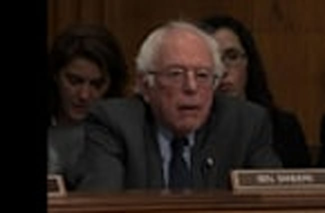 Sanders Grills Health Nominee