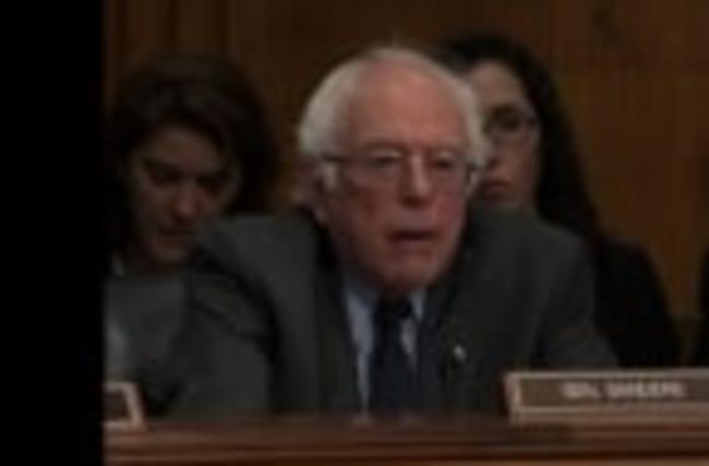 Sanders Grills Health Nominee