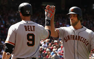Bumgarner makes history with two home runs on opening day