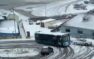 The Stig of bus drivers beats the freeze
