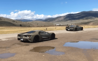 Three 2017 Ford GT prototypes pulled over for speeding in Colorado