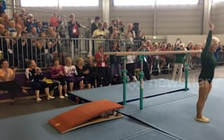 Incredible 91 year old gymnast performs flawless routine