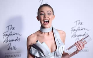 Model of the year Gigi Hadid leads mannequin challenge at Fashion Awards