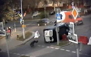 Video: How on earth is this policeman still alive?